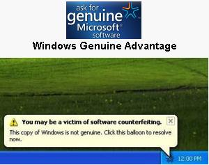 Genuine microsoft software - WGA Notifications